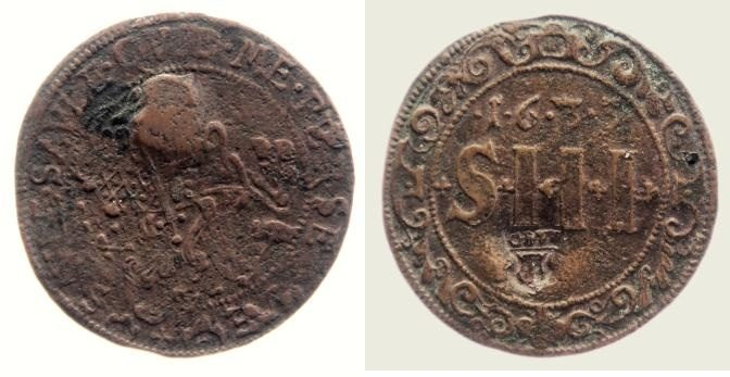 3 Schilling 1633 Münster, Domkapitel f. ss