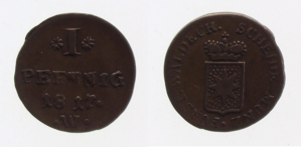 1 Pfennig 1817 Waldeck ss+