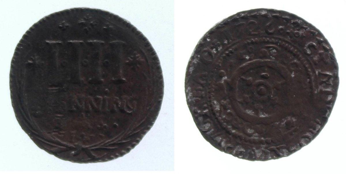 4 Pfennig 1726 Osnabrück, Std. s+, sehr selten