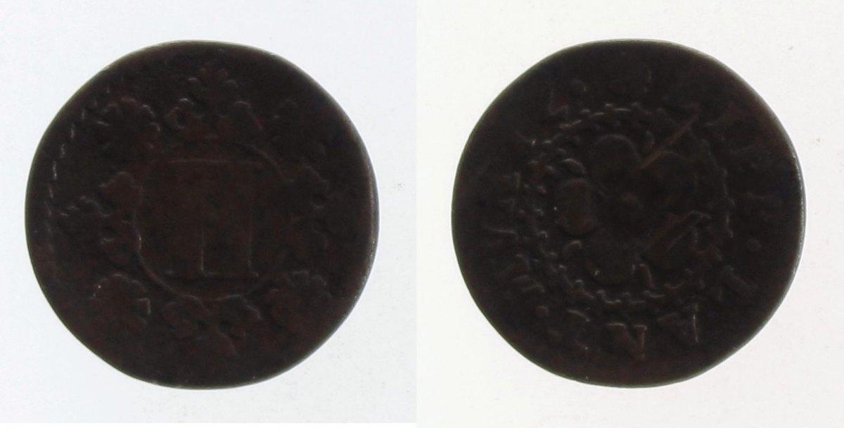 2 Pfennig o.J. Lippe-Detmold s-ss