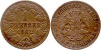 Nassau Kreuzer 1 Kreuzer 1862