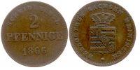 Sachsen-Meiningen 2 Pfennig 2 Pfennig 1866