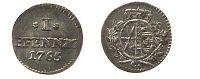 Sachsen-Albertinische Linie Pfennig 1 Pfennig 1765 C