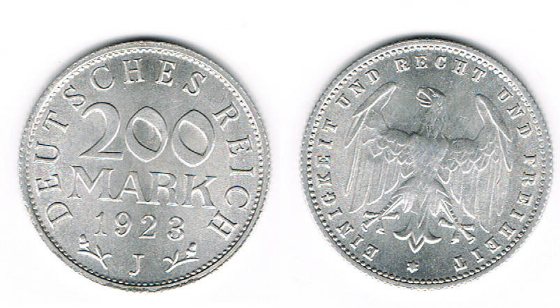 200 Mark 1923 D Weimarer Republik Weimar 200 Mark 1923 D
