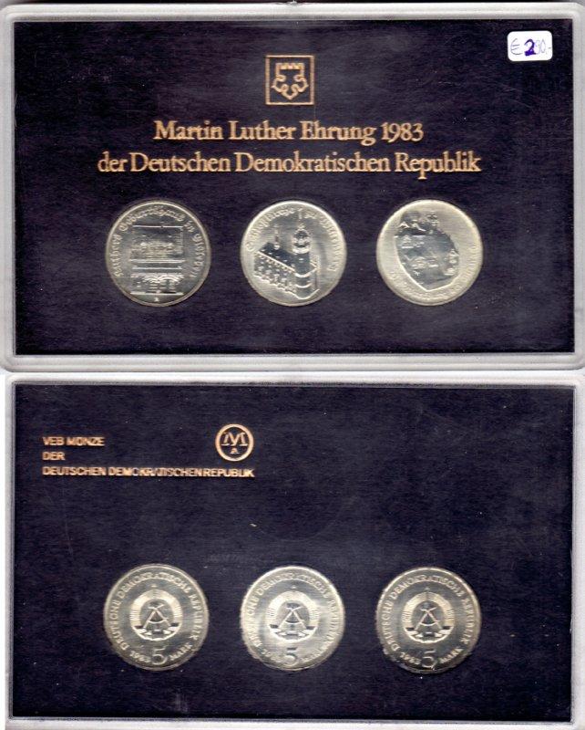 3 X 5 Mark 1983 Ddr Ddr Satzetui Martin Luther Ehrung 1983 3