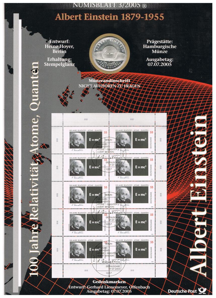 10 Euro 2005 Brd Deutschland Numisblatt 32005 Mit 10 Münze