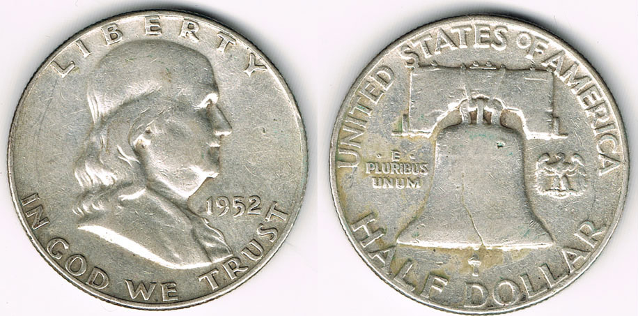12 Dollar 1952 Usa Usa Franklin Half Dollar 1952 Erhaltung Siehe