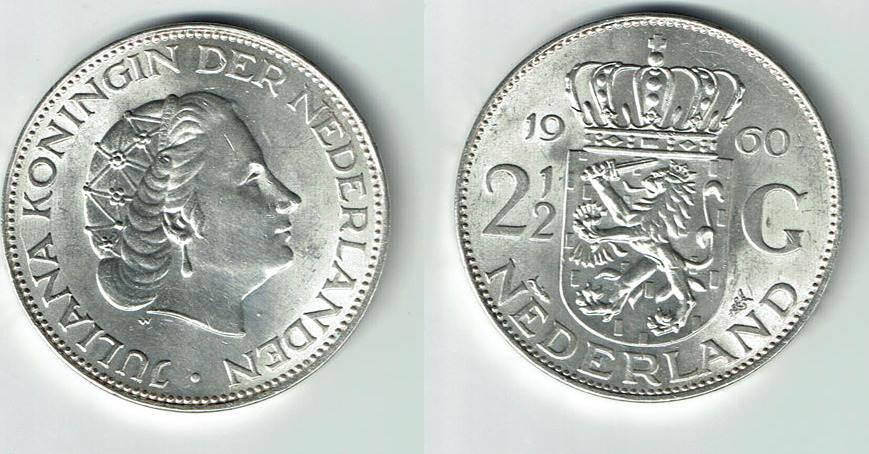 2 12 Gulden 1962 Niederlande Niederlande Juliana Kursmünze 2 12