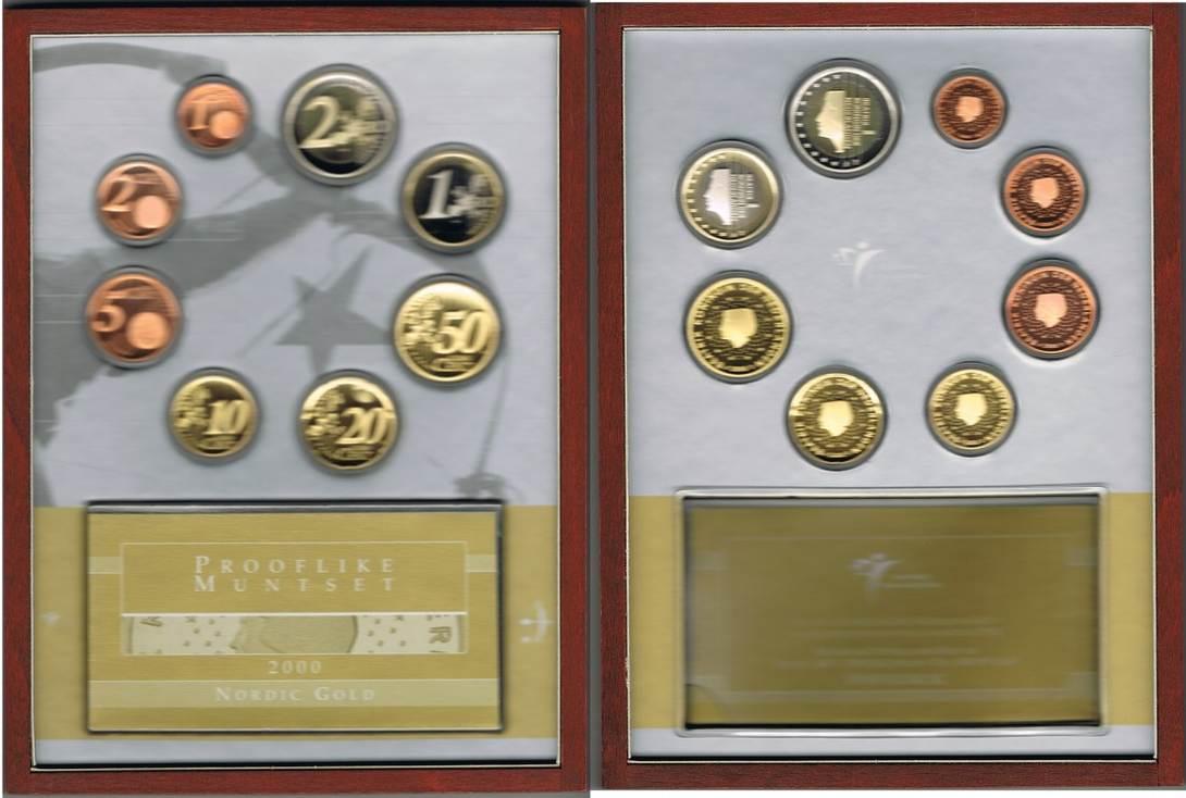 388 Euro 2000 Niederlande Niederlande Offizieller Kursmünzensatz