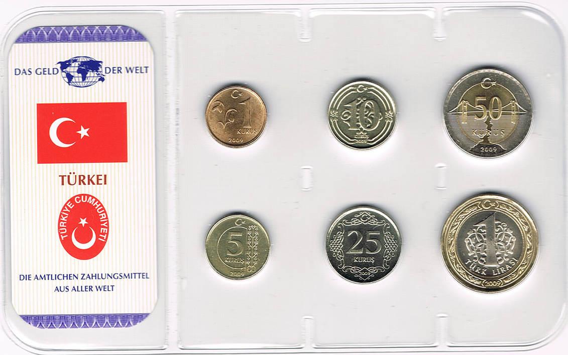 Kursmünzensatz 6 Münzen 2009 Türkei Türkei Kursmünzensatz 6