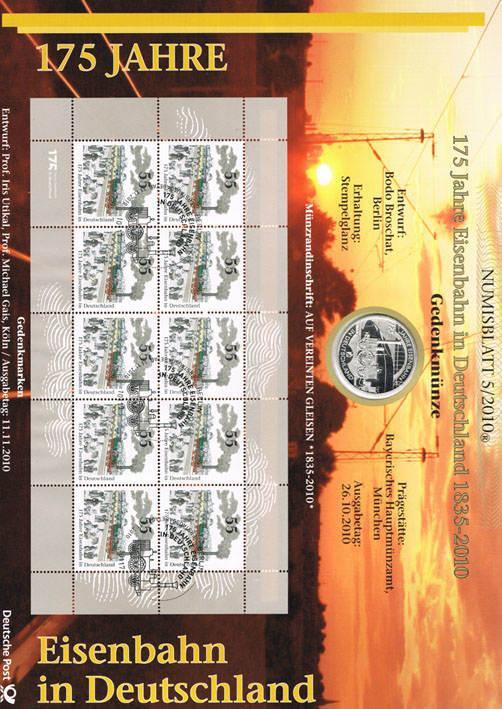 10 Euro 2010 Brd Deutschland Numisblatt 52010 Mit 10 Münze I