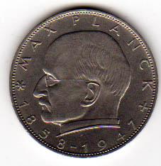 2 Dm 1961 D Brd 2 Dm Max Planck 1961 D Sehr Schön Sehr Schön Ma