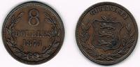 Guernsey 8 Doubles Guernsey, Kursmünze 8 Doubles 1874, Erhaltung siehe Scan!