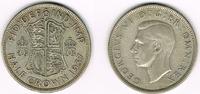 Großbritannien Half Crown Half Crown 1937, Georg VI., 14,14 g 500er Silber