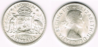 Florin (2 Shilling) 1962 Australien Australien, Kursmünze 1 Florin Silb... 10,00 EUR  zzgl. 5,00 EUR Versand