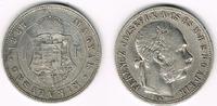 Haus Habsburg - Ungarn 1 Forint Franz Joseph, Ungarn, 1 Forint 1887, Erhaltung siehe Scan!