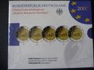 Kompletter Satz 2-Euro-Gedenkmünzen Römische Verträge im Blister mit Schuber