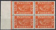 Deutsches Reich 10 Pfennig Mi.-Nr. D 111, Viererblock, Dienstmarken Freimarken