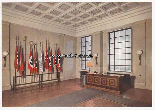 o j drittes reich m nchen ansichtskarte postkarte m nchen das braune haus fahnen halle mit. Black Bedroom Furniture Sets. Home Design Ideas