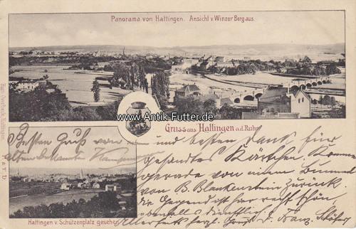 Mã Bel Hattingen 1904 hattingen a d ruhr ansichtskarte postkarte gruss aus hattingen a d ruhr panorama