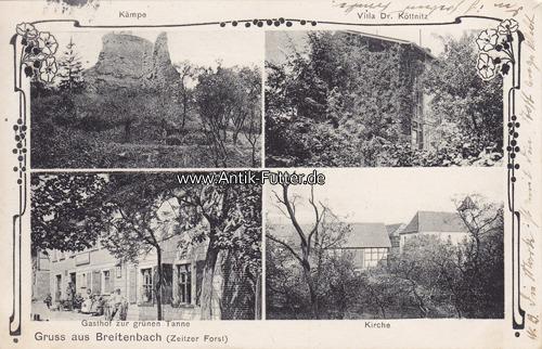 1909 breitenbach zeitz ansichtskarte postkarte gruss aus breitenbach zeitzer forst k mpe. Black Bedroom Furniture Sets. Home Design Ideas