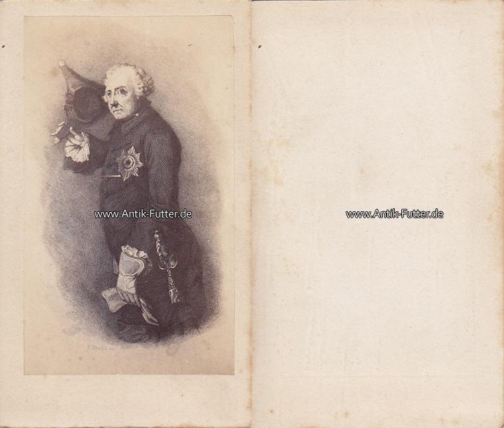 Um 1865 Preussen Brandenburg Carte De Visite CdV Friedrich Der Grosse II Alte Fritz 2