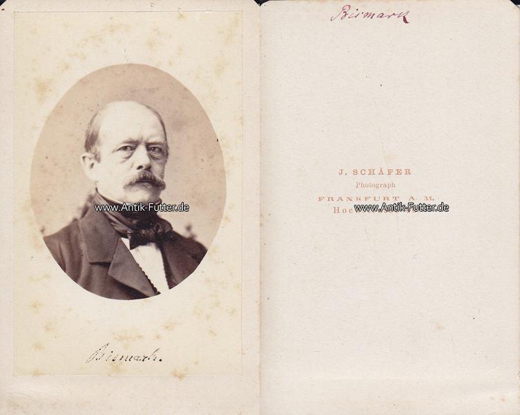 Um 1865 Preussen Carte De Visite CdV Otto Von Bismarck 3