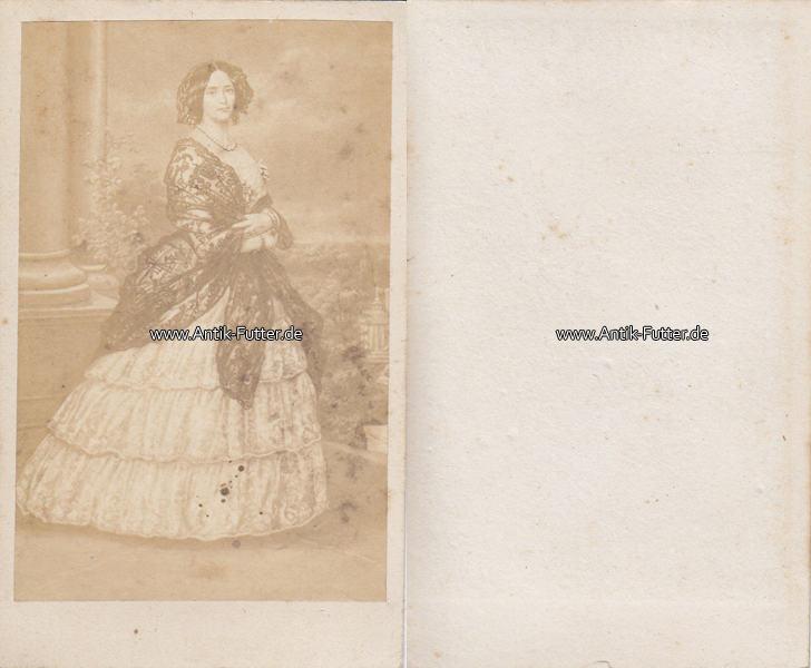 Um 1865 Preussen Sachsen Weimar Eisenach Carte De Visite CdV Kabinettfoto Kaiserin Augusta 3