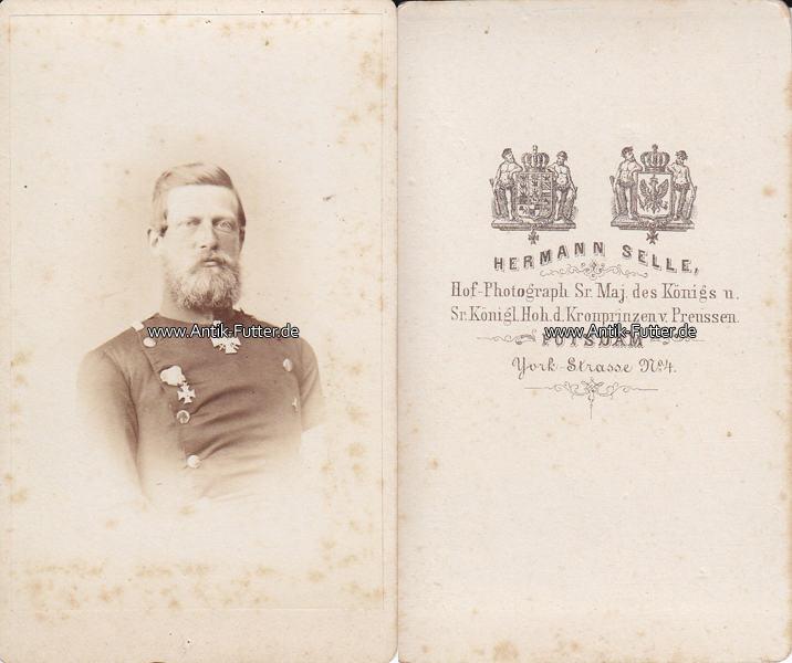 Um 1865 Preussen Carte De Visite CdV Kronprinz Friedrich III 3