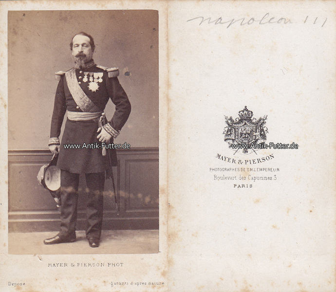 Um 1865 Frankreich Carte De Visite CdV Napoleon III 3