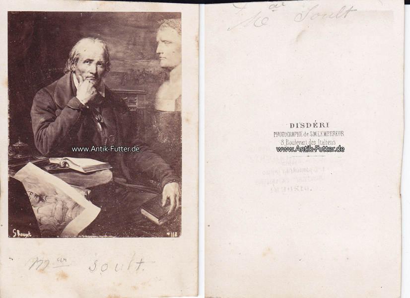 Um 1865 Frankreich Carte De Visite CdV Nicolas Jean Dieu Soult Marschall 3