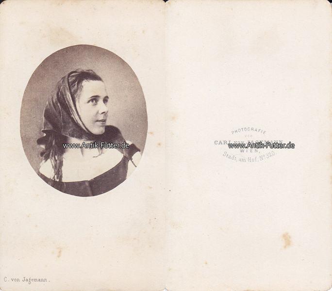 Um 1860 Wurzburg Gmunden Osterreich Carte De Visite CdV Friederike Gossmann Schauspielerin 2 3