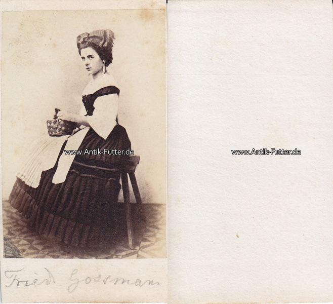 Um 1860 Wurzburg Gmunden Osterreich Carte De Visite CdV Friederike Gossmann Schauspielerin 3