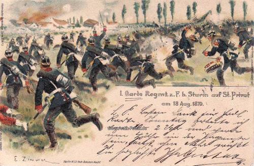 1901 Deutsches Reich Lithographie/1.Garde Regiment zu Fuss bei ...