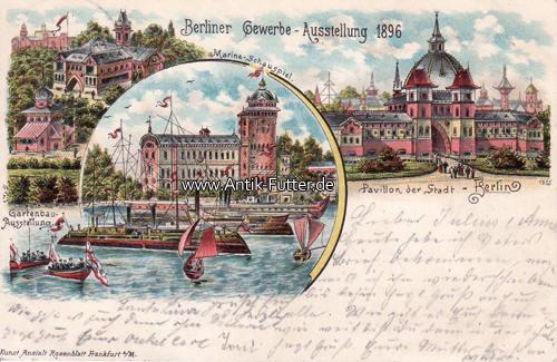 1896 Berlin Litho Berliner Gewerbe Ausstellung 1896