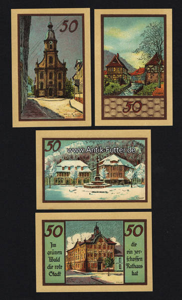 4 x 50 pf 1922 suhl stadt suhl stadtansichten komplett 1
