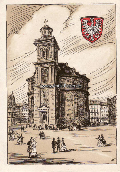 1948 frankfurt a m ansichtskarte postkarte paulskirche. Black Bedroom Furniture Sets. Home Design Ideas