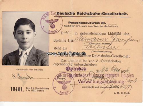 Deutsches Reich Personenausweis