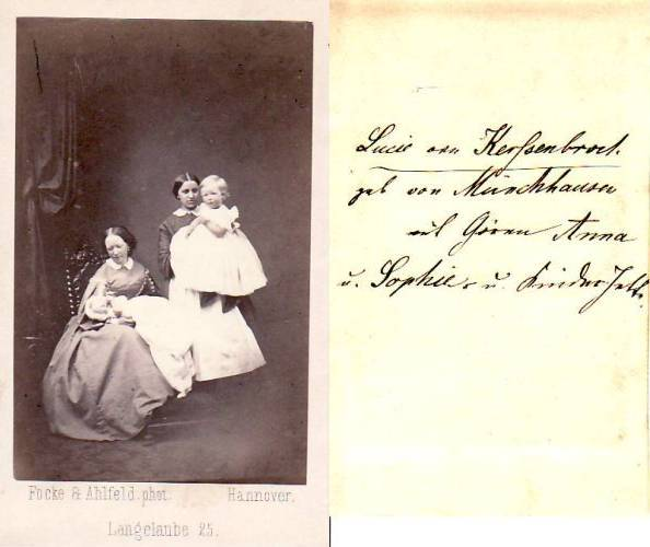 Um 1863 Hannover Niedersachsen Carte De Visite CdV Kabinettphoto Lucie Von Kerfsenbrock GebMunchhausen 2