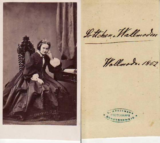 1862 Hannover Niedersachsen Carte De Visite CdV Kabinettphoto Lottchen Von Wallmoden 2