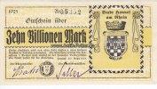 Honnef/Rheinland 10 Billionen Mark Stadt