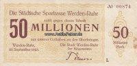 Werden-Ruhr/Rheinland 50 Million Mark Stadt