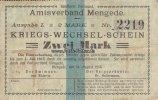 Mengede/Dortmund/Westfalen 2 Mark Kriegs-Wechsel-Schein/Amtsverband Mengede,Landkreis Dortmund/AusgabeI.