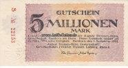Hamborn/Rheinland 5 Millionen Mark August Thyssen-Hütte