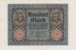 Deutsches Reich 100 Mark Reichsbanknote,Rosenberg 67.b,KN 8stellig,Unterdruckbuchstabe V, Serie H