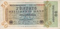 Deutsches Reich 50 Milliarden Reichsabanknote, Inflation 1919-1924/Rosenberg Nr.117.b