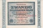 Deutsches Reich 20 Milliarden Mark Reichsabanknote, Inflation 1919-1924/Rosenberg Nr.115.e