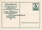 Drittes Reich/Bückeberg/Hameln 6 + 4 Pf Ganzsachen Postkarte/Sonderpostkarte zum Erntedankfest auf dem Bückeberg....