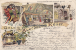 Leipzig  Ansichtskarte / Postkarte / Litho / Gruss aus Auerbachs Keller. Leipzig, d. /...