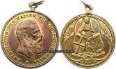 Fulda  Tragbare,vergoldete Bronzemedaille/Enthüllung des Kaiser Friedrich-Denkmals